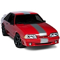 Silver Super Snake Style Stripe Kit (79-93 All) - AmericanMuscle Graphics 26157