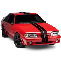 Black GT500 Style Stripes - 5in (79-93 All) - American Muscle Graphics 26161