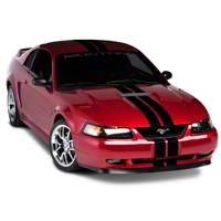 Black GT500 Style Stripes - 5 in. (94-04 All) - American Muscle Graphics 26161