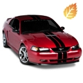 Black GT500 Style Stripes - 5in (94-04 All) - American Muscle Graphics 26161