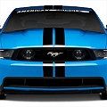 Black GT500 Style Stripes - 5in (79-14 All) - American Muscle Graphics 26161