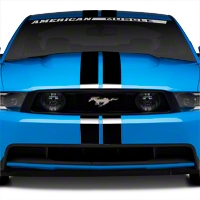 Black GT500 Style Stripes - 5in (79-14 All) - AmericanMuscle Graphics 26161