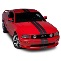Matte Black GT500 Style Stripes - 5in (05-14 All) - AmericanMuscle Graphics 26162
