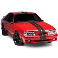 Matte Black GT500 Style Stripes - 5 in. (79-93 All) - American Muscle Graphics 26162