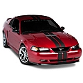 Matte Black GT500 Style Stripes - 5in (94-04 All) - AmericanMuscle Graphics 26162