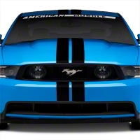 Matte Black GT500 Style Stripes - 5in (79-14 All) - AmericanMuscle Graphics 26162