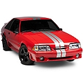 Silver GT500 Style Stripes - 5in (79-93 All) - AmericanMuscle Graphics 26163