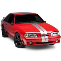 Silver GT500 Style Stripes - 5 in. (79-93 All) - American Muscle Graphics 26163