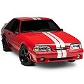 White GT500 Style Stripes - 5in (79-93 All) - AmericanMuscle Graphics 26164