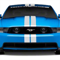 White GT500 Style Stripes - 5in (79-14 All) - AmericanMuscle Graphics 26164