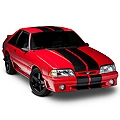 Black GT500 Style Stripes - 10 in. (79-93 All) - American Muscle Graphics 26165