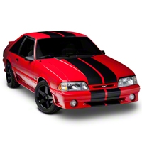 Black GT500 Style Stripes - 10in (79-93 All) - American Muscle Graphics 26165