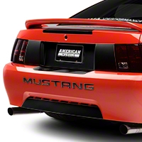 Black Rear Deck Lid Blackout Decal (99-04 All) - American Muscle Graphics 26168