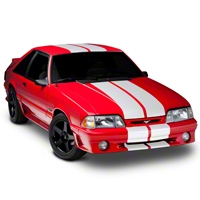 White GT500 Style Stripes - 10in (79-93 All) - AmericanMuscle Graphics 26169