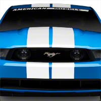 White GT500 Style Stripes - 10 in. (79-14 All) - American Muscle Graphics 26169