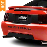 Matte Black Rear Deck Lid Blackout Decal (99-04 All) - American Muscle Graphics 26170