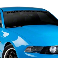 Bama Performance Windshield Banner - Black (05-14 All) - AmericanMuscle Graphics 26173