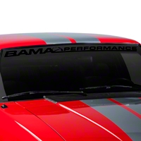 Bama Performance Windshield Banner - Black (79-93 All) - AmericanMuscle Graphics 26173