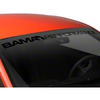Bama Performance Windshield Banner - Black (94-04 All) - American Muscle Graphics 26173