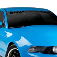 Bama Performance Windshield Banner - Black (79-14 All) - AmericanMuscle Graphics 26173