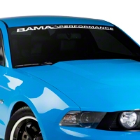 Bama Performance Windshield Banner - White (05-14 All) - AmericanMuscle Graphics 26174