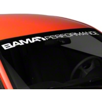 Bama Performance Windshield Banner - White (94-04 All) - AmericanMuscle Graphics 26174