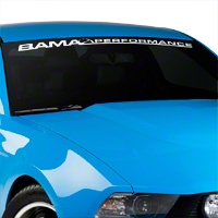 Bama Performance Windshield Banner - White (79-14 All) - AmericanMuscle Graphics 26174