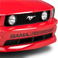 Bama Performance Front Bumper Decal - Black (05-12 All) - AmericanMuscle Graphics 26175