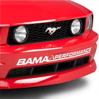 Bama Performance Front Bumper Decal - White (05-12 All) - AmericanMuscle Graphics 26176