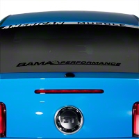 Bama Performance Lower Windshield Decal - Black (05-14 All) - AmericanMuscle Graphics 26177