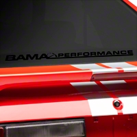 Bama Performance Lower Windshield Decal - Black (79-93 All) - American Muscle Graphics 26177