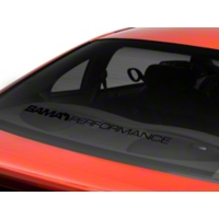 Bama Performance Lower Windshield Decal - Black (94-04 All) - American Muscle Graphics 26177