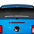 Bama Performance Lower Windshield Decal - White (05-14 All) - AmericanMuscle Graphics 26178