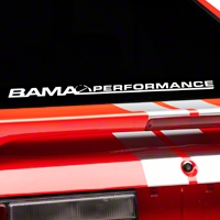 Bama Performance Lower Windshield Decal - White (79-93 All) - AmericanMuscle Graphics 26178