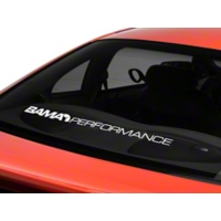 Bama Performance Lower Windshield Decal - White (94-04 All) - AmericanMuscle Graphics 26178