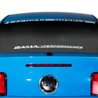 Bama Performance Lower Windshield Decal - White (79-14 All) - AmericanMuscle Graphics 26178