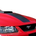 Matte Black Mach 1 Hood Decal (03-04 Mach 1) - AmericanMuscle Graphics 26181