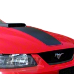 Matte Black Mach 1 Hood Decal (03-04 Mach 1) - American Muscle Graphics 26181