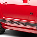 Matte Black Rocker Stripes w/ American Muscle (05-14 All) - American Muscle Graphics 26182