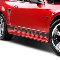 Matte Black Rocker Stripes w/ American Muscle (79-14 All) - AmericanMuscle Graphics 26182
