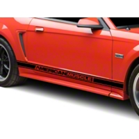 Black Rocker Stripes w/ American Muscle (94-04 All) - American Muscle Graphics 26183