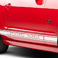 White Rocker Stripes w/ American Muscle (05-14 All) - AmericanMuscle Graphics 26184