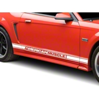 White Rocker Stripes w/ American Muscle (94-04 All) - AmericanMuscle Graphics 26184