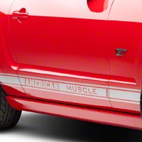 Silver Rocker Stripes w/ American Muscle (05-14 All) - AmericanMuscle Graphics 26185