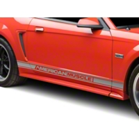 Silver Rocker Stripes w/ American Muscle (94-04 All) - AmericanMuscle Graphics 26185