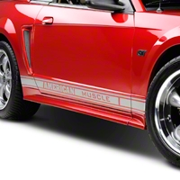 Silver Rocker Stripes w/ American Muscle (79-14 All) - AmericanMuscle Graphics 26185
