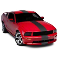 Matte Black Super Snake Style Stripe Kit (05-14 All) - AmericanMuscle Graphics 26186