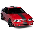 Matte Black Super Snake Style Stripe Kit (79-93 All) - American Muscle Graphics 26186