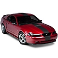 Matte Black Super Snake Style Stripe Kit (94-04 All) - AmericanMuscle Graphics 26186