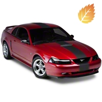 Matte Black Super Snake Style Stripe Kit (94-04 All) - American Muscle Graphics 26186